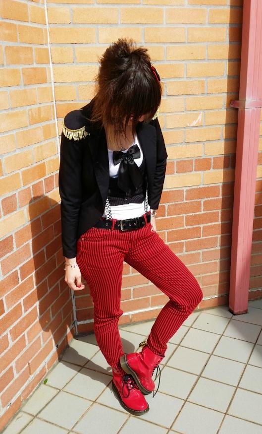 Blazer: Black friday, Shirt: Cotton On, Vest: Thrifted, Belt: Low Life, Jeans: Sweet Vengeance, Shoes: Dr Martins